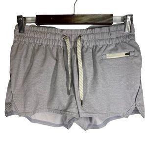Vuori Grey Clementine Drawstring Woven Shorts XS